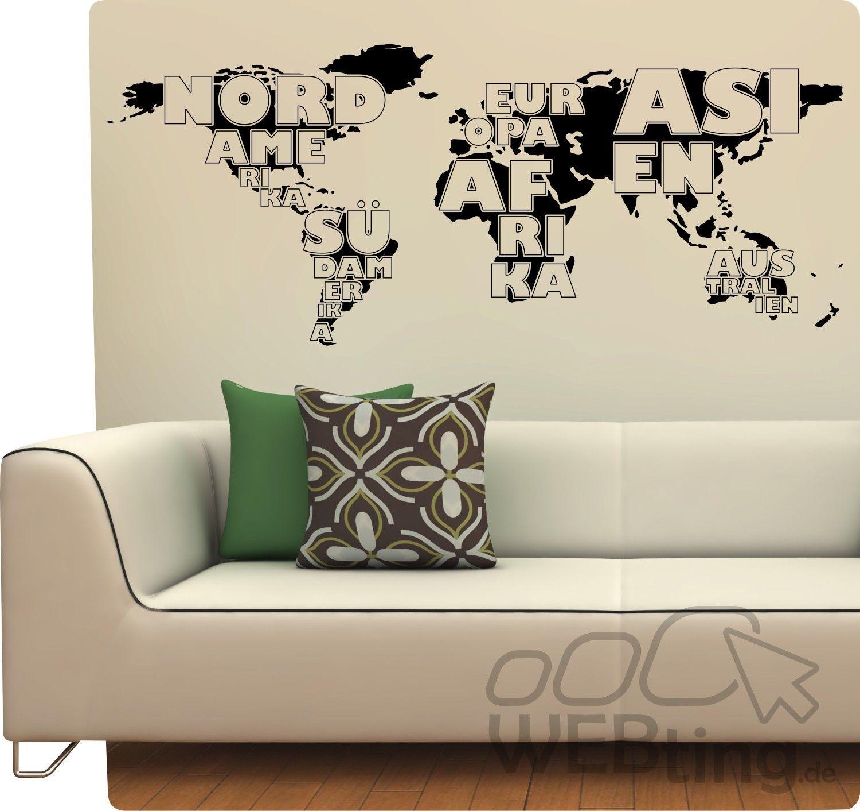 Verschiedene Wandtattoo Weltkarte Foto Von Weltkugel Aufkleber Welt Sticker World Earth Kugel