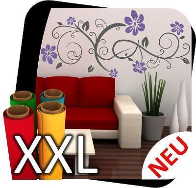 xxl wandtattoo blumen ranke pflanze deko blumenranke. Black Bedroom Furniture Sets. Home Design Ideas