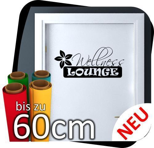 Badezimmer Türaufkleber Tür Wandtattoo Aufkleber Sticker Schild Wellness  Lounge