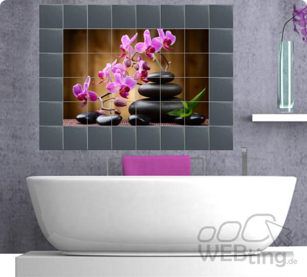 fliesenaufkleber fliesenbild fliesen aufkleber sticker k che wellness folie deko. Black Bedroom Furniture Sets. Home Design Ideas