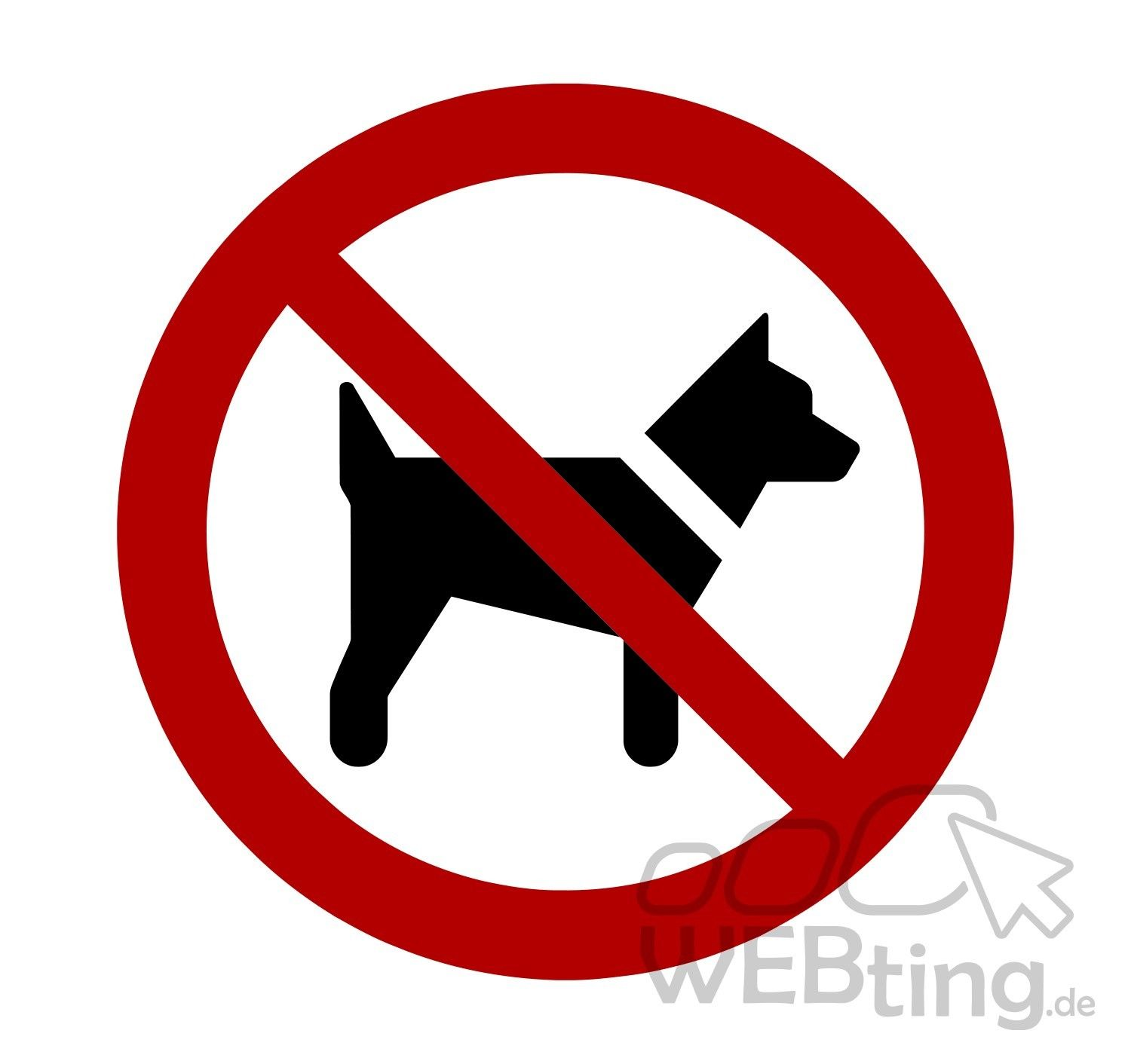 hunde verboten warnschild verbot hinweis aufkleber sticker schild hinweis symbol. Black Bedroom Furniture Sets. Home Design Ideas