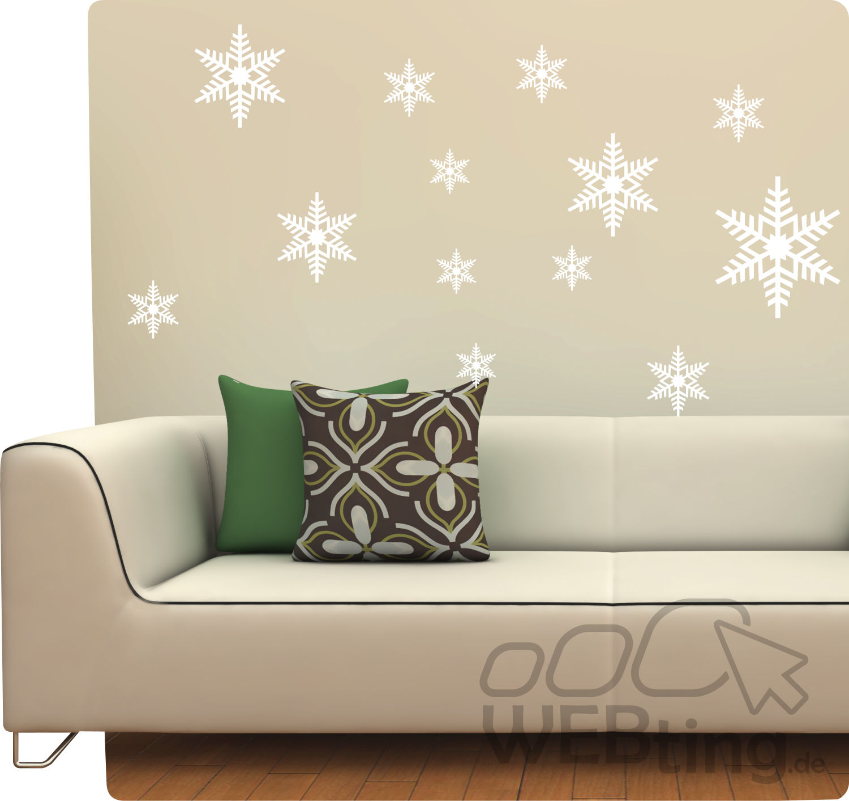 schneeflocken sticker fensterdeko fenster weihnachten wandaufkleber aufkleber. Black Bedroom Furniture Sets. Home Design Ideas