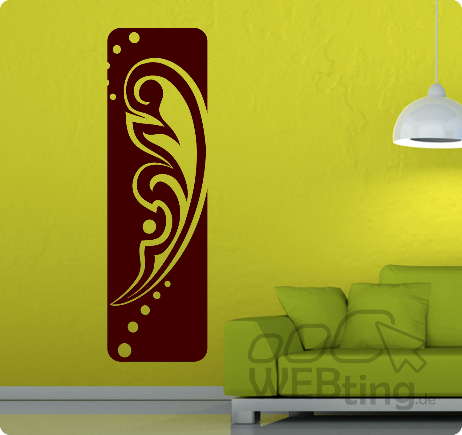 wandtattoo banner blumen ranke wandaufkleber aufkleber streifen deko tattoo flur. Black Bedroom Furniture Sets. Home Design Ideas