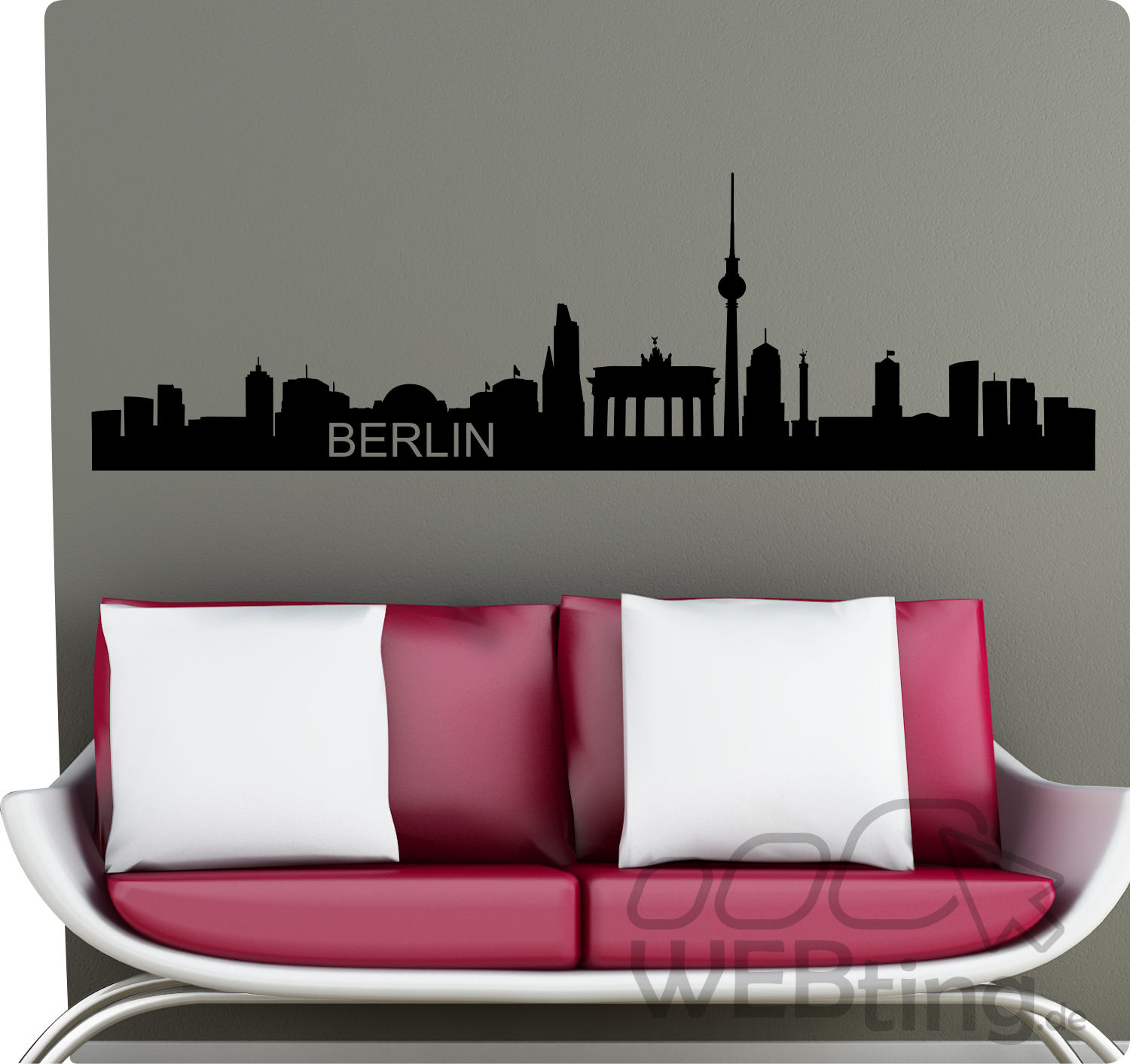 xxl wandtattoo skyline berlin wandaufkleber aufkleber. Black Bedroom Furniture Sets. Home Design Ideas